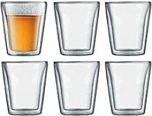 Glas doppelwandig 0,2 l Canteen 6er-Set
