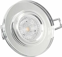 GLAS Einbau-Leuchte rund, Decken-Strahler klar