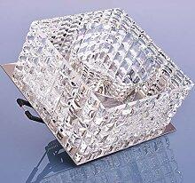 Glas Einbaustrahler mit G9 Fassung 230V Spot