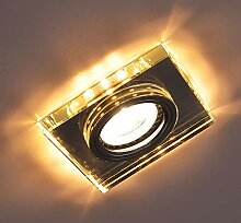 Glas Einbaustrahler mit LED Ring + GU10 Fassung +
