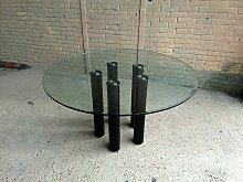 Glas Esstisch von Marco Zanuso für Zanotta, 1979