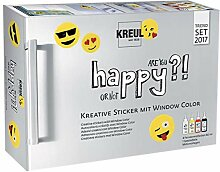 Glas Farbe Window Color Smajlik - Emoticon, CK