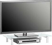 Glas Fernsehtisch Aufsatz TV Schrank Glasplatte