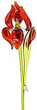 Glas Figur Glasblume für Blumentopf Iris