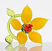 Glas Figur Glasblume für Blumentopf Seerose
