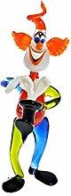 Glas Figur Glastier für Vitrine Clown mit