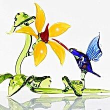 Glas Figur Glastier für Vitrine Kolibri