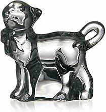 Glas Figur Tier Statue für Vitrine Katze Stehend