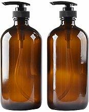 Glas Flasche Flaschen mit Kunststoff Pumpe.