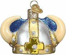 Glas geblasenes Ornament mit S-Haken und