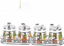 Glas Gewürz-gläser [mit löffel] Glas Spice jar
