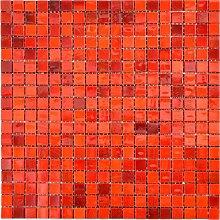 Glas Glasmosaik rot Wand Boden Küche Dusche Bad