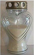 Glas Herz Memorial Kerze