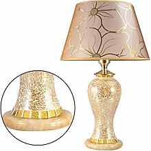 Glas Hochzeit Tischlampe, Wohnzimmer Schlafzimmer Nachttischlampe, Luxus Hotel Lampe Tisch Schreibtischlampe ( farbe : A )
