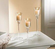 Glas-Kerzenhalter, 3er Se