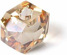 Glas-Kerzenhalter Kristall-Diamant bernsteinfarben