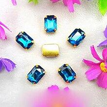 Glas Kristall Gold Kralle Einstellungen 7 Größen