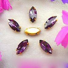Glas Kristall Gold Kralle Einstellungen 8 Größen