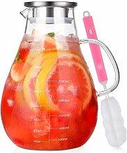 Glas Krug Karaffe mit Deckel, Wasserkaraffe 3