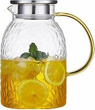 Glas Krug/Karaffen/Dickes Glasmaterial mit hohem