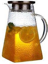 Glas Krug mit Deckel Eistee Krug 3 Ausführungen