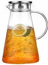 Glas Krug/mit Deckel Eistee Krug/Kapazität 1200