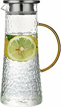 Glas Krug mit Deckel Eistee Krug Topfkörper