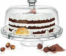 Glas Kuchenplatte 6 in 1 Tortenplatte /