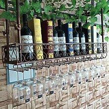 Glas Küche Aufhängung Weinregal Schmiedeeisen