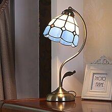 Glas Lampe Eisen Tisch Lampe für Schlafzimmer