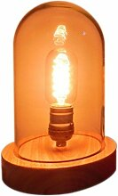 Glas Lampen einfache Holz Glas Lampen kreative