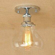 Glas Lampeschirm Retro Deckenleuchte Antik Vintage