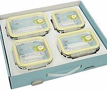 Glas-Lebensmittel-Vorratsdosen mit hohem