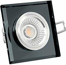 Glas LED Decken Einbaustrahler 230V dimmbar &