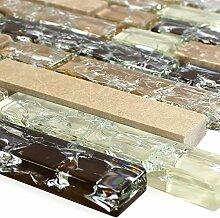 Glas Marmor Mosaik Fliese Emperador Mix