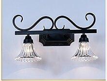 Glas Matt Schwarz Badezimmer Spiegel Lampe Retro Lampe E27 ( größe : 55cm )
