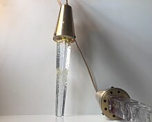 Glas & Messing Eiszapfen Hängelampen von Atelje