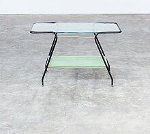 Glas & Metall Couchtisch, 1950er