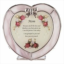 Glas Mom Herz Teelichthalter