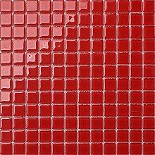 Glas Mosaik Fliesen 30cm x 30cm Matte in Rot