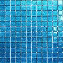 Glas Mosaik Fliesen Für Wand. Farbe ist Blau mit