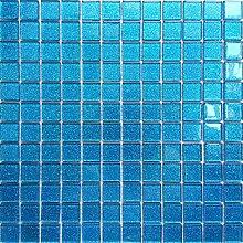 GTDE 8mm Marmor Mosaik Fliesen Matte in Schwarz und Wei/ß f/ür Wand und Boden MT0060