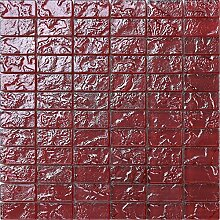Glas Mosaik Fliesen Matte in Rot Texturiert Lava