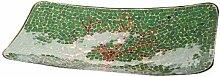 Glas Mosaikschale Baum rechteckig