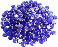 Glas Nuggets 1kg Dunkelblau / Cobalt (230 Stück) Wohnkultur Aquarium Garten Kunsthandwerk
