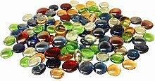 Glas Nuggets 500g Mischfarben (110 Stück) Wohnkultur Aquarium Garten Kunsthandwerk