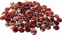Glas Nuggets 500g Rot (110 Stück) Wohnkultur Aquarium Garten Kunsthandwerk