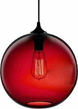 Glas Pendelleuchte Vintage Industrial Ball Runde