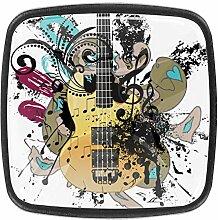 Glas Pop Musik Gitarre bunt cool für Kommode
