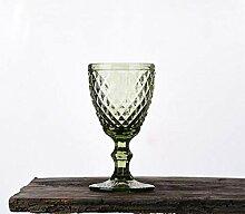Glas Retro Geprägte Farbige Rotweinglas Tasse